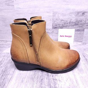 Propet Leather Ankle Boot Tan 6.5